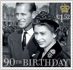 £1.52, HM The Queen with the Duke of Edinburgh 1957 from HM The Queen's 90th Birthday (2016)