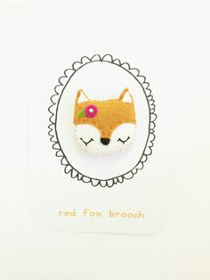 #DIY Felt Fox Brooch