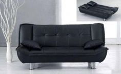 Black PU Sofa Sleeper