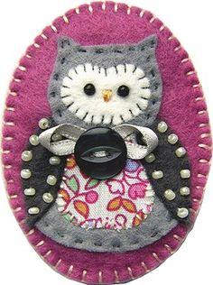 owl pin   #felt