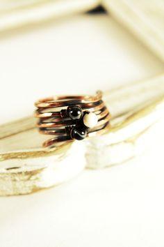 rusztikus spirális vörösréz gyűrű- tricolor, Ékszer, óra, Gyűrű, Meska Wedding Rings, Engagement Rings, Jewelry, Enagement Rings, Jewlery, Jewerly, Schmuck, Jewels, Jewelery