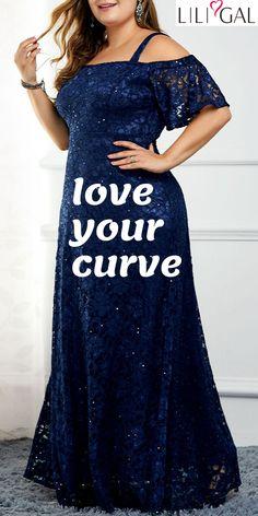 Liligal sexy plus size vestidos estilo curvilíneo das mulheres – The World Curvy Fashion, Plus Size Fashion, Plus Size Dresses, Plus Size Outfits, Mode Plus, Looks Plus Size, Tee Dress, Mode Outfits, Classy Dress