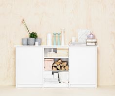 Store your favourite stuff and stylish books openly or behind doors. You´ll find parts for Lundia Classic in various colours and sizes. Scandi Home, Lund, Real Wood, Scandinavian Style, My House, Shelves, Colours, Living Room, Storage