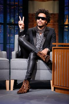 Musician Lenny Kravitz during an interview on July 25 2016