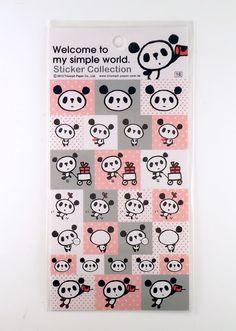 ♥B-day gift from Greivin♥ simple panda kawaii stickers