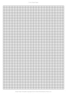 A4 Graph Paper Template Pdf 5mm Squares 210 297 Mm Printable