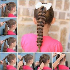 Here is a super cute idea to make an inverted hearts ponytail hairstyle. I really like how it turns out. It looks like a lot of inverted hearts stacking on top of one another. Isn't that lovely? It's great for little girls orteenage girls with long hair. It's not difficult …