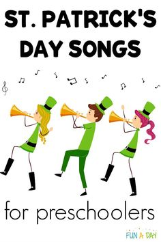 Love this selection of St. Patrick's Day songs for preschoolers! They would be perfect in the preschool classroom or at home. Great to see some real Irish music is included! Go check out the St. Patrick's Day songs for kids. Movement Preschool, Preschool Music, Preschool Lesson Plans, Music Activities, Preschool Themes, Preschool Classroom, Preschool Activities, Spring Preschool Songs, Kindergarten Songs