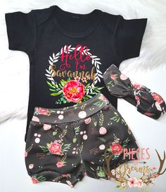 100 % Organic Cotton Baby Girl Outfit Coming Home Outfit Newborn Baby Girl by PiecesOfDreams on Etsy https://www.etsy.com/listing/517933042/100-organic-cotton-baby-girl-outfit