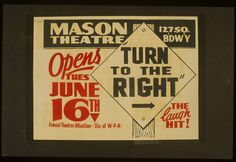 """from the Library of Congress' """"WPA Posters"""" collection"""