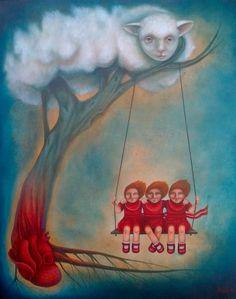 """""""Corazón guardián"""" de la pintora mexicana Patricia García. Maravilloso"""