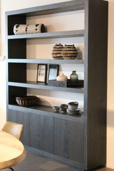 Open wandkast woonkamer | bookshelves/cabinetry | Pinterest | Top ...