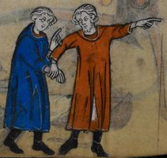 Detail from medieval manuscript, British Library Stowe MS 17 'The Maastricht Hours', f190v