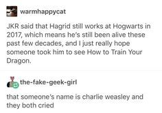 I can just see the two of them crying in the back when a little muggle kid comes by to give them a hug