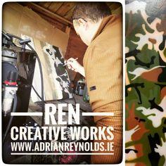 Airbrushing in the shed!  For more information check out my website: www.adrianreynolds.ie  #art #artist #artwork #acrylicfluidart #acrylicfluidpainting #artforsale #artforsaleonline #abstractart #contemporaryart #bespokeart #creative #fineart #customart #airbrushing #commissionart #artoftheday #artgallery  #artistsofinstagram #artlovers #artista #artstudio #painting #canvas #abstract #arts_promotes #artforhome #ceramics #rencreativeworks Art For Sale Online, Painting Canvas, Creative Words, Custom Art, Airbrush, Art Day, Home Art, First Love, It Works