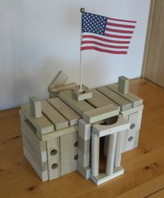 A great Voting Day project for kids! Let your kids make this model of the White House from wooden building blocks. It's fun and educational too. Takes a bit of balancing. Can be used in the classroom too. Find easy instructions at from Back To Blocks at http://backtoblocks.com/blog/backtoblocks_blog_wooden_blocks_the_white_house/