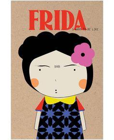 Little Frida als Tapete von Niñasilla   JUNIQE