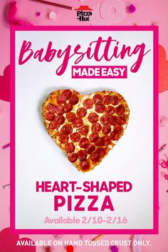 Heart-Shaped Pizza from Pizza Hut—starting Keep the kids busy while you're babysitting with a steady dose of arts, crafts & Heart-Shaped Pizza. Lots and LOTS of Heart-Shaped Pizza. Keto Banana Bread, Keto Bread, Pizza Hut, Pizza Recipes, Bread Recipes, Wok Recipes, Order Pizza Online, Keto Flour, Heart Shaped Pizza