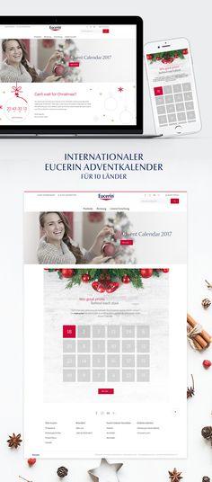 Konzeption, Design und Entwicklung einer interaktiven Digital-Kampagne zum Thema Weihnachten für Eucerin. Map, Design, Weihnachten, Maps, Design Comics