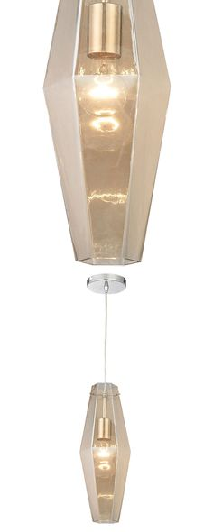 Pour yourself a glass of champagne-inspired light. This stunning fixture features a champagne-plated glass shade contrasted against polished chrome. Its luminous design blends modern style with classic...  Find the Rita Pendant Light, as seen in the Pendants Collection at http://dotandbo.com/category/lighting/chandeliers-and-pendants/pendants?utm_source=pinterest&utm_medium=organic&db_sku=121013