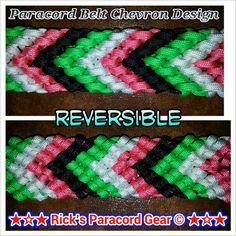 Chevron paracord belt, gun strap, guitar strap, etc. design...can choose a wide variety of colors. I used 4 colors, 4 and 4 and this gave me a 1 5/8 belt width
