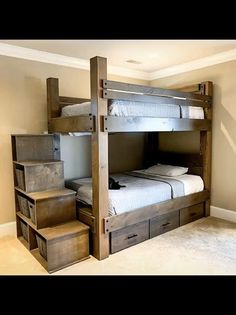 Queen Bunk Beds, Bunk Bed Rooms, Adult Bunk Beds, Bunk Beds For Adults, Bunk Bed Decor, Kids Beds For Boys, Bunk Beds For Boys Room, Bedding Decor, Duvet Bedding
