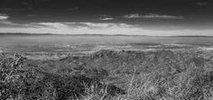 Breckenridge Valley Vista by Wayne Wong on Capture Kern County // Taken at a bend in the road below Heisey's Ranch.  To cut the haze, I used an orange filter in Lightroom 5 and changed the color mix in black and white mode; i.e.  minimize the orange and blue and use a strong contrast filter.  In the original, the buildings in the background, the radio towers and the trees on the hillsides are all clearly delineated.