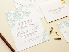 These are pretty?? Besotted  Romantic Lace Wedding Invitation  Flat by BanterandCharm, $200.00