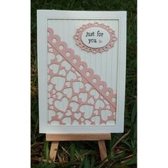 die cut cutting stencil fancy Elegant heart lace border swirl