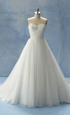 Alfred Angelo Wedding Dress- cinderella style He does dresses inspired by disney princesses and i love this one!