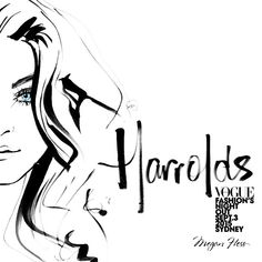 Monty (my pen) has gone to bed early to rest up because tomorrow night I will be drawing LIVE at @harroldsaus in Sydney for #VFNO Watch me draw a live illustration of Jessica Stam from 6.30pm in store at #HarroldsWoman, Westfield Sydney.