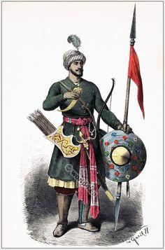Hindu Warrior costume 15th century [Franz Lipperheide, 1876-1887]