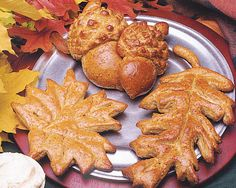 Here's a fun autumn-time activity. Gather some fall leaves, then see if you can match the shape using Rhodes dough.
