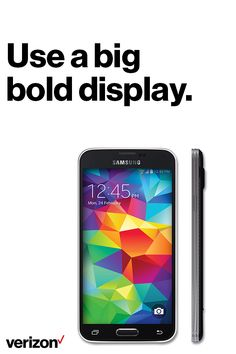 Samsung has put everything it knows about HDTV technology on brilliant display with the 5.1-inch Full HD Super AMOLED screen of the Samsung Galaxy S5. Movies and TV shows come to life as they were meant to be seen. Order yours today on Verizon.