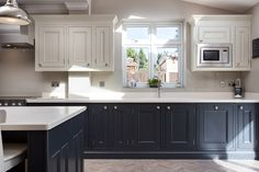 The 1909 Kitchens range is a modern twist on a traditional British kitchen. See our stunning collection of kitchen styles now or visit our kitchen showroom today Grey Shaker Kitchen, White Shaker Cabinets, Shaker Style Kitchens, Grey Kitchens, Home Kitchens, Real Kitchen, Kitchen Paint, Kitchen Design, Kitchen Cabinets