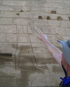 This wall carving within the Karnak Temple complex in Egypt commemorates Pharaoh Shishak's military exploits, including an invasion into Israel, c. 925 BC. Most scholars believe this event is also noted in the Bible in 1 Kings 14:25. The carving displays a large image of the god Amun leading a number of captive cities by ropes. The scene is damaged; but, among others, it lists the Israelite city of Megiddo as one of many attacked by the Egyptians.