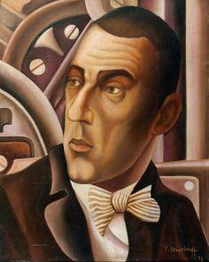 Shukhaev, Vasily (1887-1973) - 1922 Portrait of Vladmir Meyerhold (Private Collection) by RasMarley, via Flickr