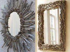 Оправа из деревянных ветвей для зеркала. Фото с сайта ru.pinterest.com/