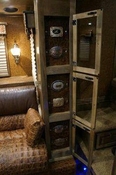 buckle case in horse trailer