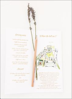 "inside place setting ""booklets"" ..."