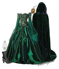 """""""Salazar Slytherin Gender Swapped"""" by thehelsinghatter ❤ liked on Polyvore featuring Funtasma and Jennifer Behr"""