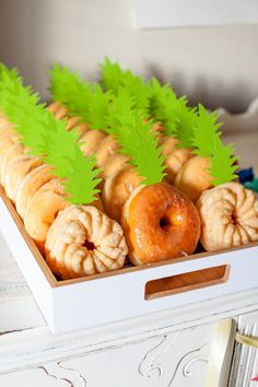 "How CUTE are these ""pineapple"" doughnuts? This Pineapple Party is perfect for all ages. Come on over to MichaelsMakers WhipperBerry to learn how to recreate this EASY party!"
