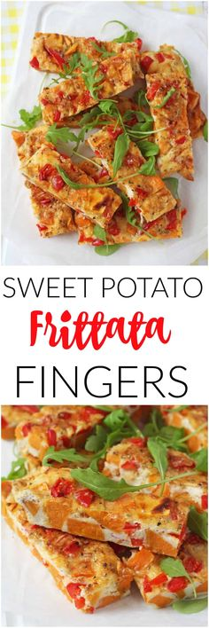 For a delicious, filling and healthy lunch try these Sweet Potato Frittata Slices. Super easy to make! The frittata slices can be eaten warm or else packed away into a lunchbox and eaten cold later in the day. They will also keep well in the fridge for up to 2 days; great to have on hand for a quick and easy snack! #frittatarecipes #healthylunch #easyfrittatarecipe #lunchboxideas #snackideas