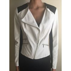 INC Faux-leather Colorblock Moto Jacket Pre-owned but still in great condition INC Jacket INC International Concepts Jackets & Coats Blazers