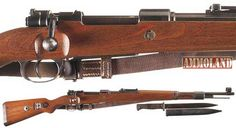 Нацистки Маузер К98 от Втората световна война / World War II Nazi K98 Mauser Bolt Action Rifle with Bayonet
