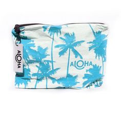 Aloha Collection Coco Palms Splash-Proof Pouch ($34) ❤ liked on Polyvore featuring beauty products, beauty accessories, bags & cases and activewear