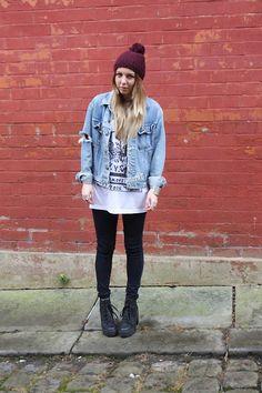 Topshop Hat, Ette Jacket, Ette Tee, Topshop Jeans, Topshop Boots grunge outfit style