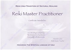 Reiki leaflets flyers brochures reiki pinterest for Reiki level 1 certificate template