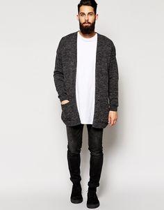 Cardigan jeans desert boots beard tumblr Style