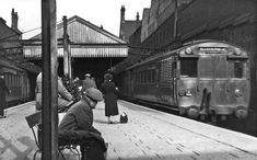 Scruffy-looking Watford High Street Station in late 1940's. Train on the right…
